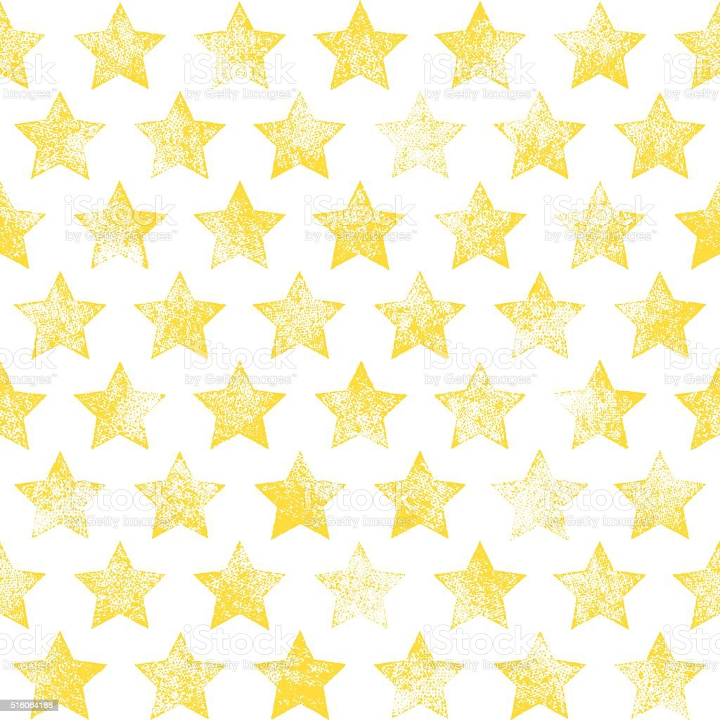Seamless pattern with stars vector art illustration