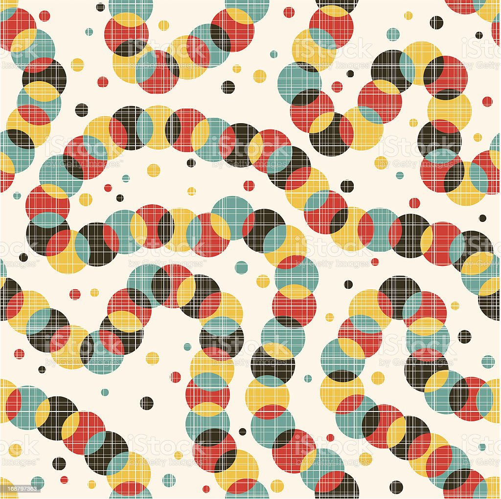 Seamless pattern with strange decoration. royalty-free stock vector art