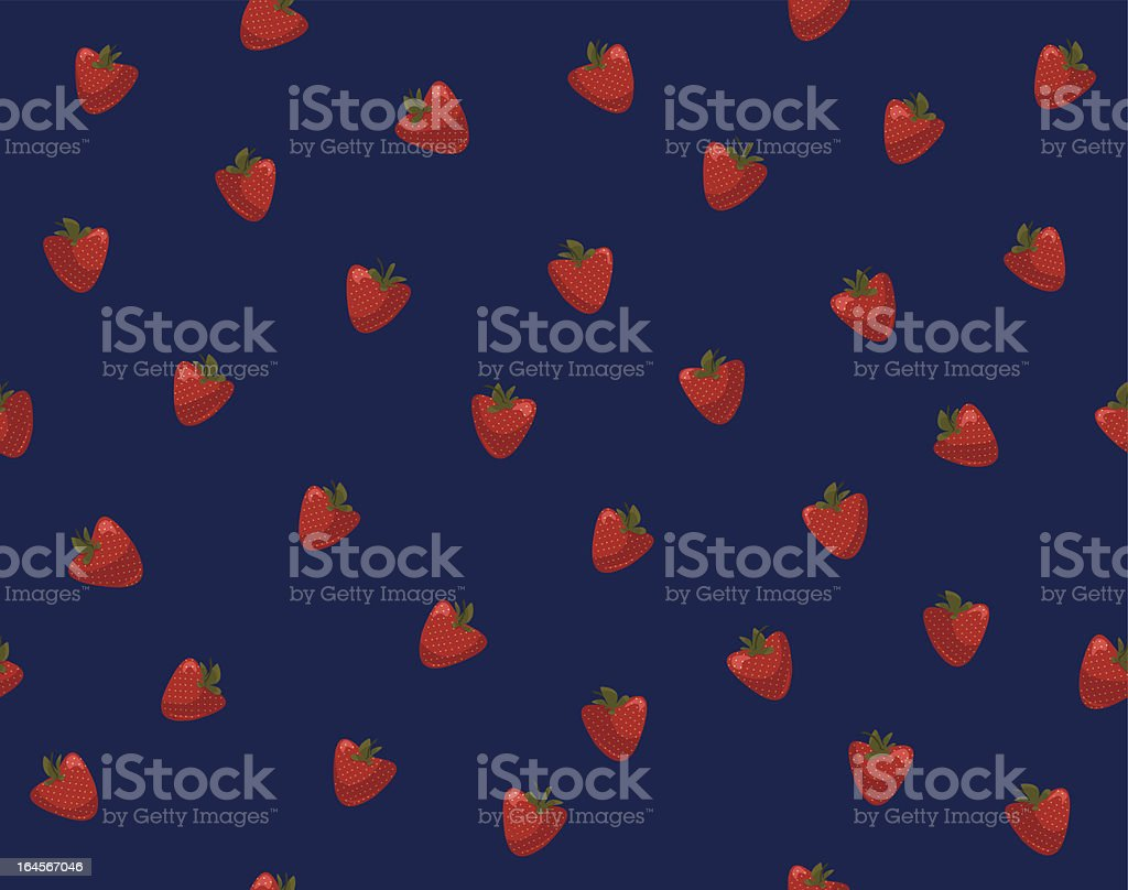 Seamless pattern with strawberries royalty-free stock vector art