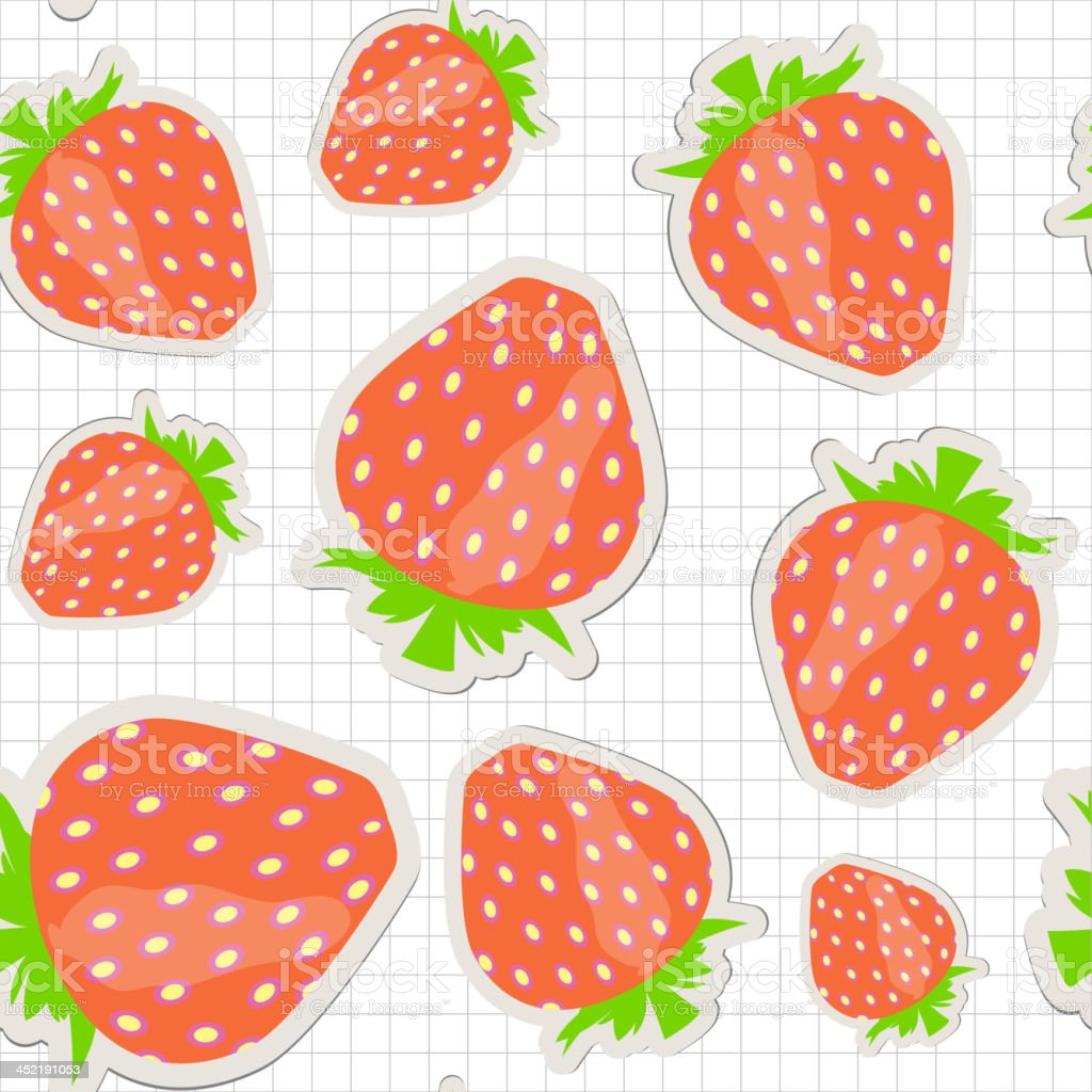 Seamless pattern with  strawberry. Vector illustration royalty-free stock vector art