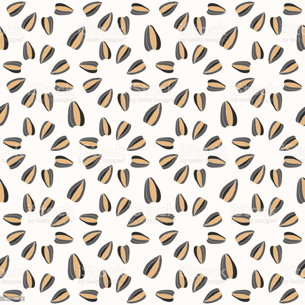 Seamless pattern with sunflower seeds royalty-free stock vector art