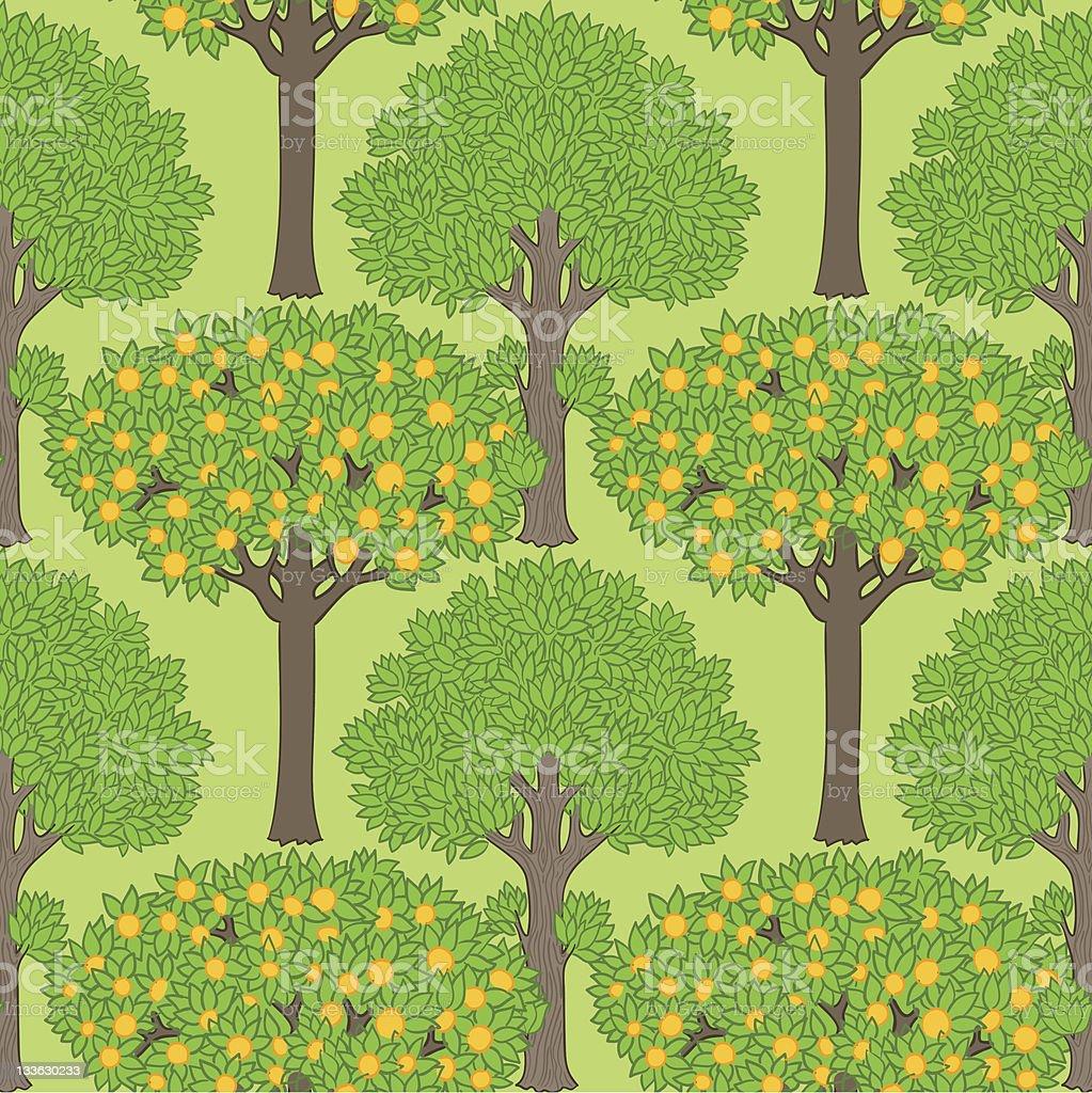 Seamless pattern with trees векторная иллюстрация