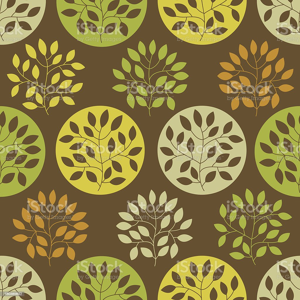 Seamless pattern with trees royalty-free stock vector art