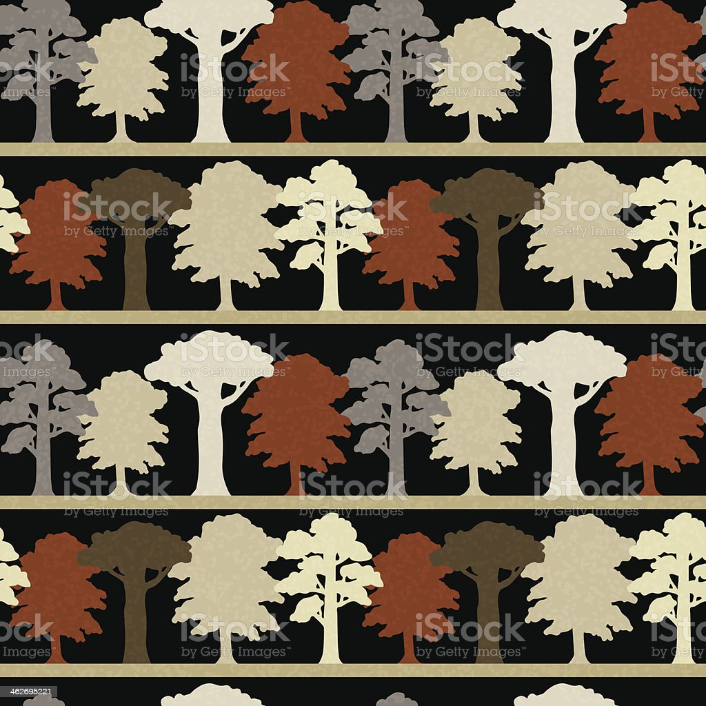 Seamless pattern with trees vector art illustration