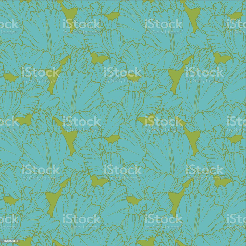 Seamless pattern with tulips royalty-free stock vector art