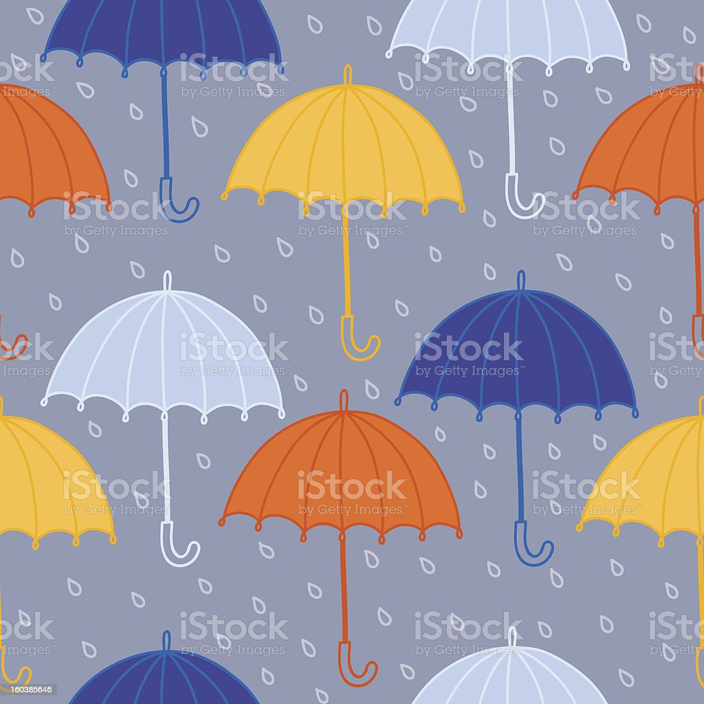 Seamless pattern with umbrellas royalty-free stock vector art