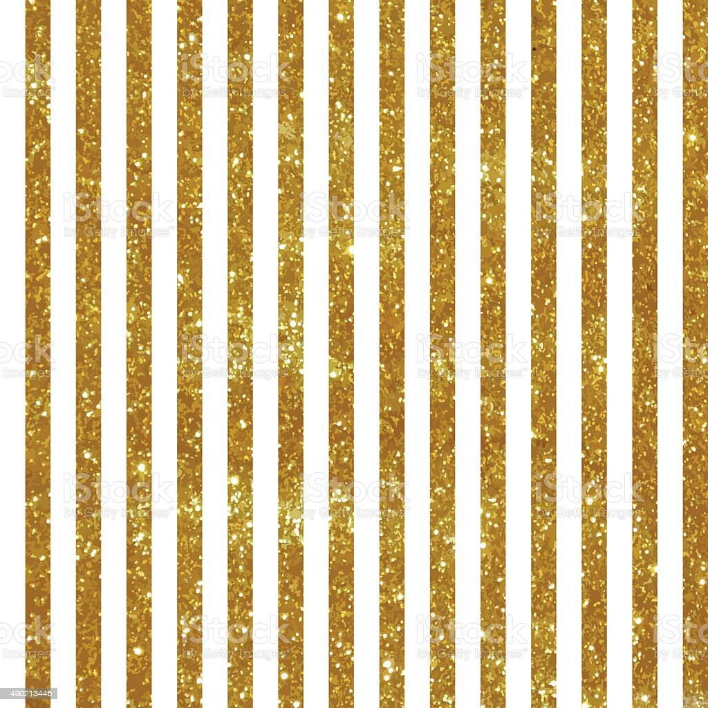 Seamless pattern with vertical gold stripes vector art illustration