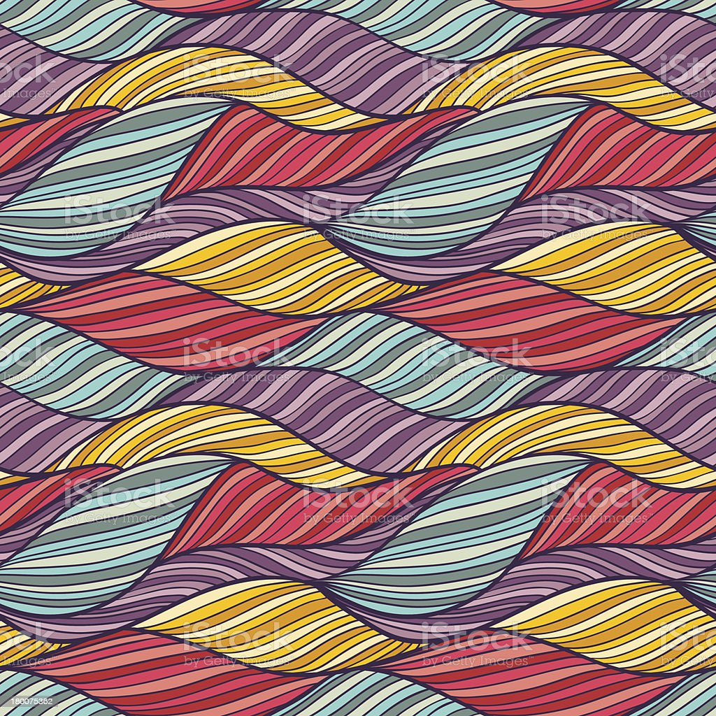 Seamless pattern with waves texture. royalty-free stock vector art