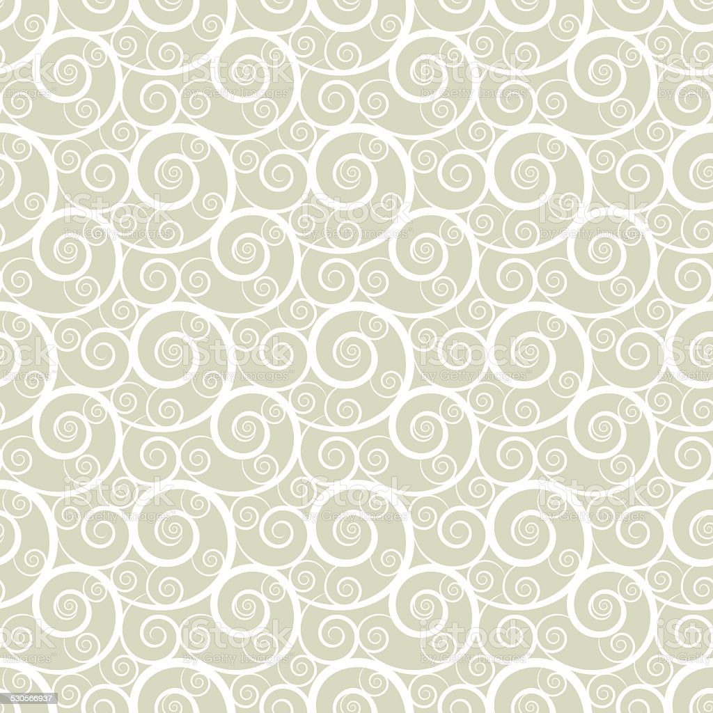 Seamless pattern with waves vector art illustration