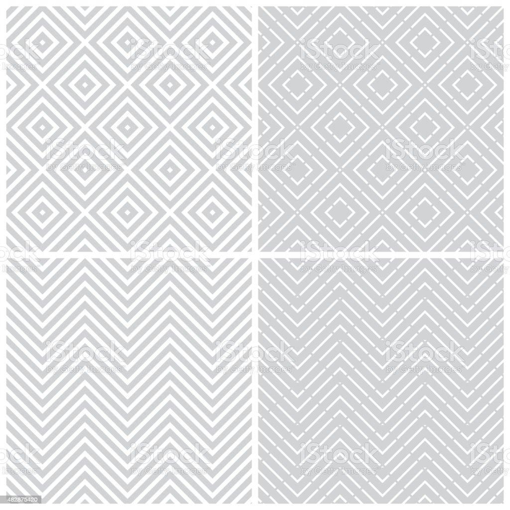 Seamless pattern_set02 vector art illustration