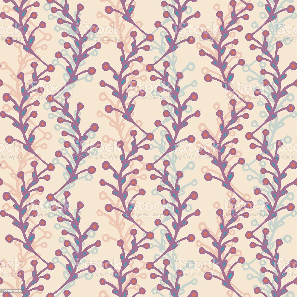 Seamless patternfloral vector art illustration