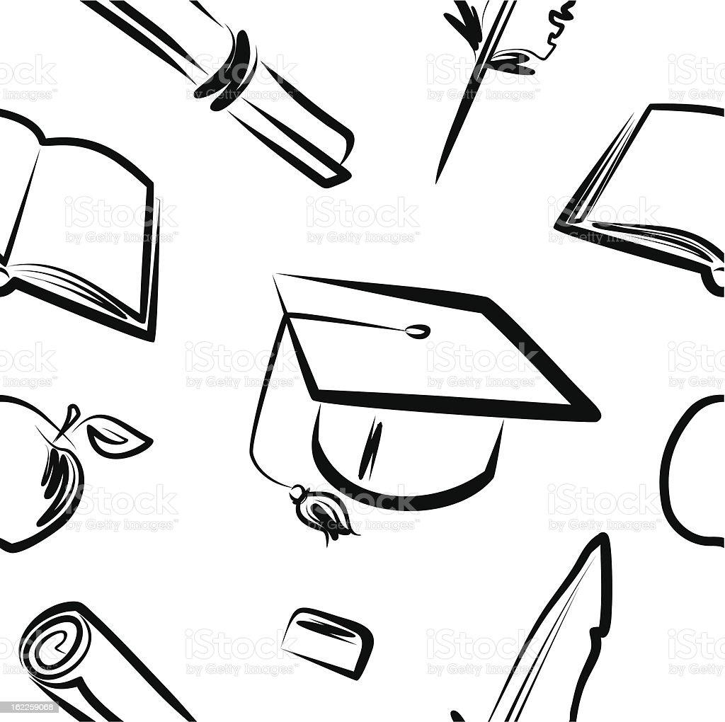 Seamless pattern-gtaduation vector art illustration