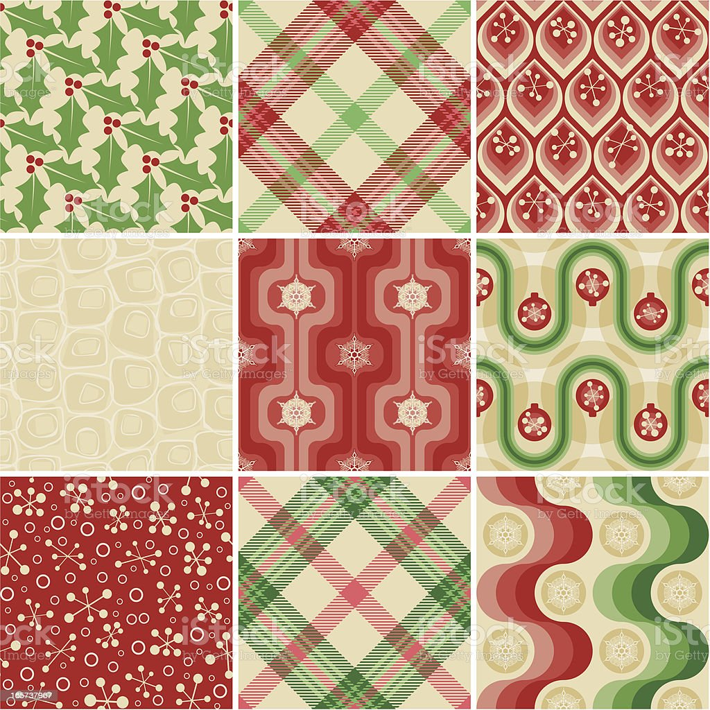 Seamless patterns for Christmas wrapping paper  vector art illustration