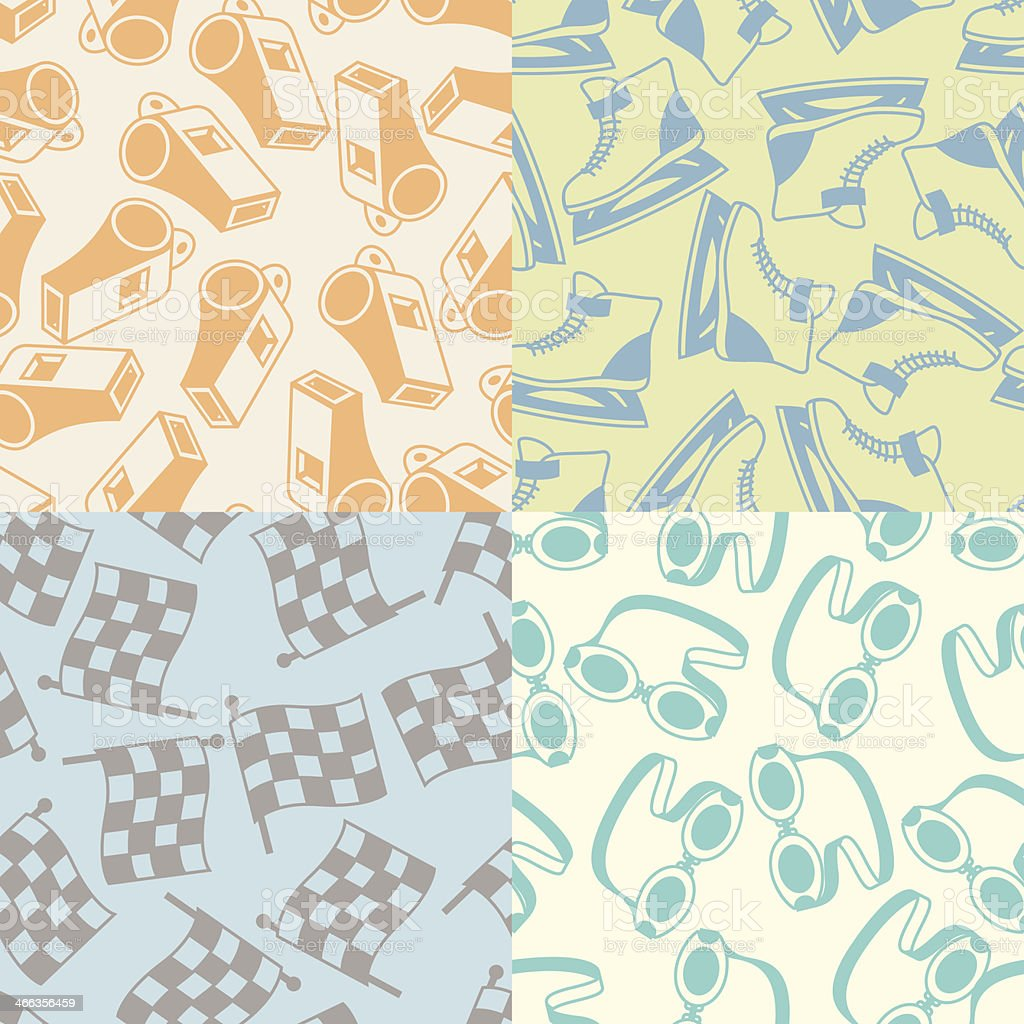 Seamless patterns of sport icons. royalty-free stock vector art