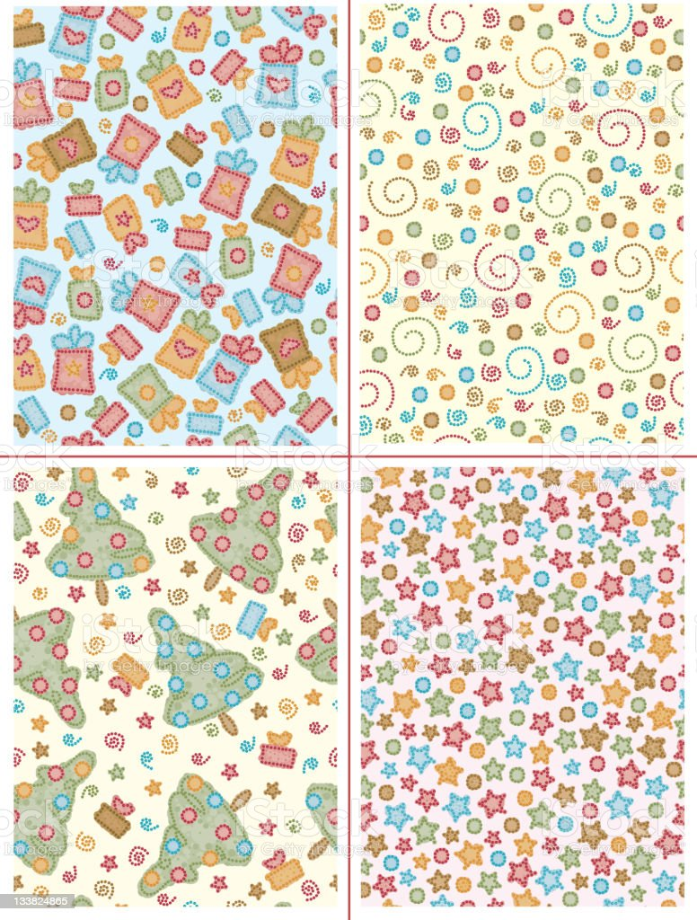 Seamless patterns. royalty-free stock vector art