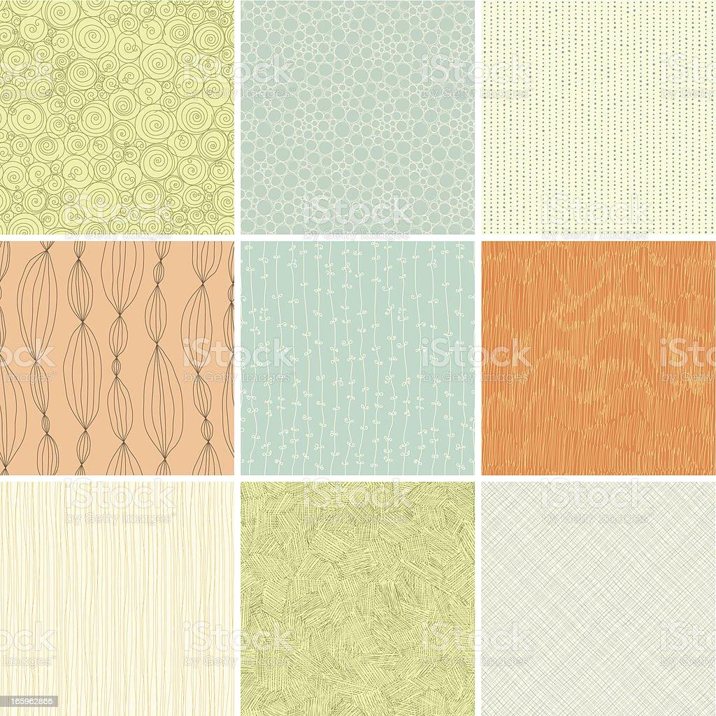 Seamless Patterns royalty-free stock vector art