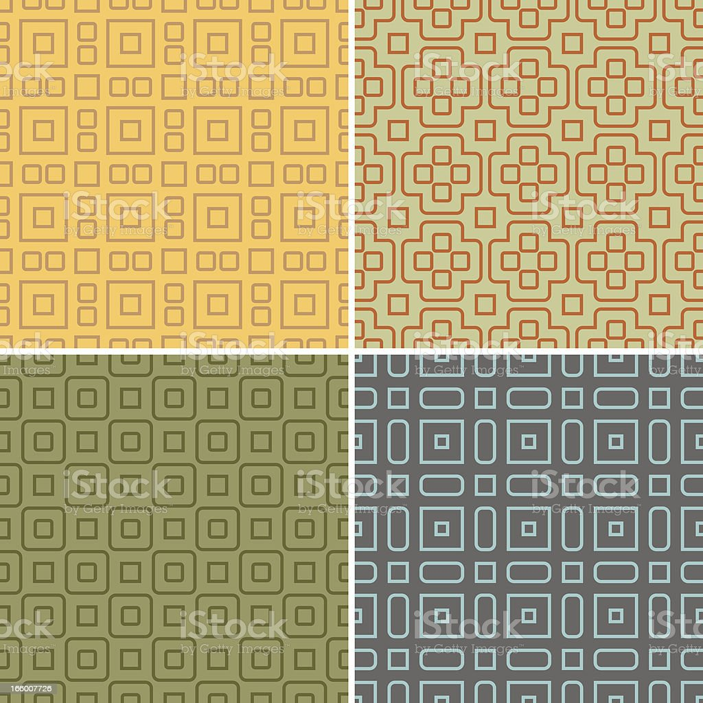 Seamless Patterns royalty-free stock vector art