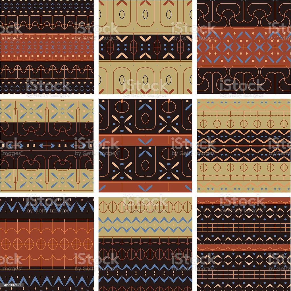 Seamless patterns . vector art illustration