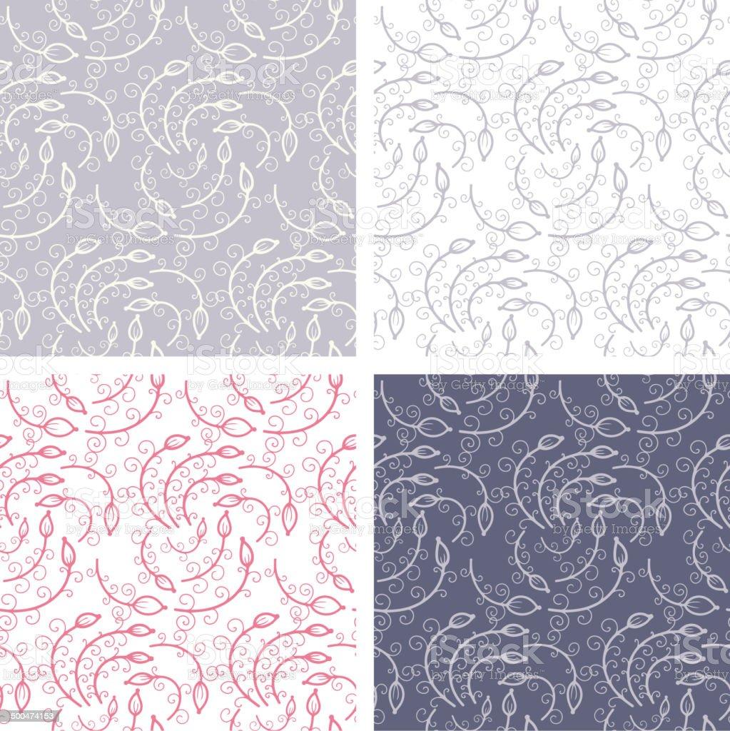 Seamless patterns vector art illustration