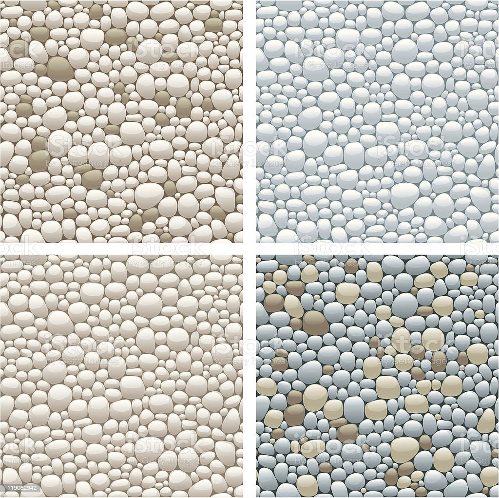 seamless patterns with stones vector art illustration