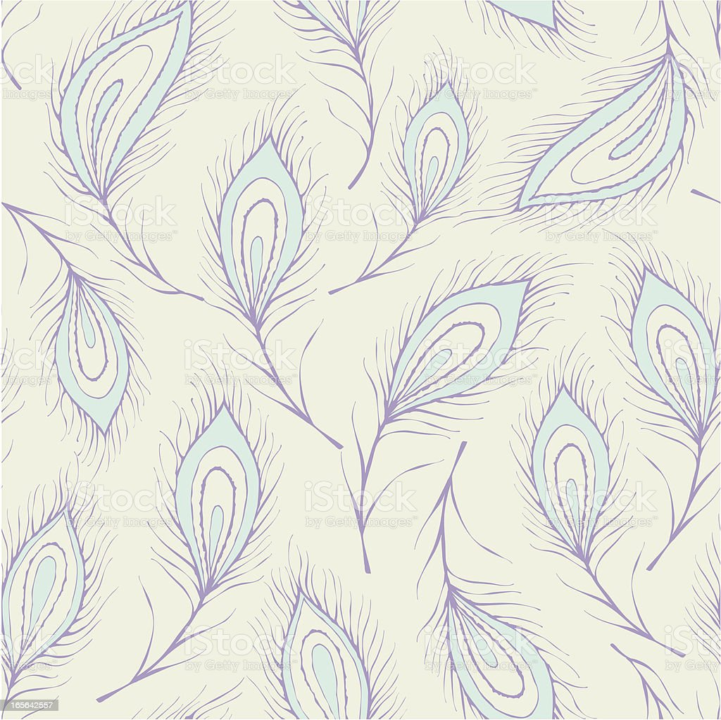 Seamless peacock feather Pattern royalty-free stock vector art