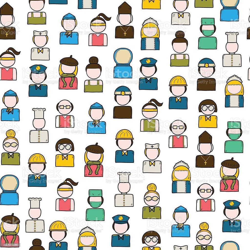policeman, artist, engineer, nurse, surgeon, waiter, stewardess. Work...