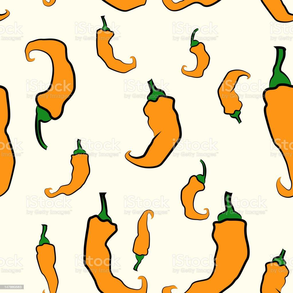 Seamless Pepper texture royalty-free stock vector art