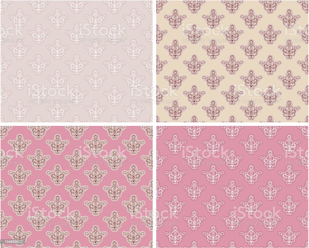 seamless pink background set royalty-free stock vector art