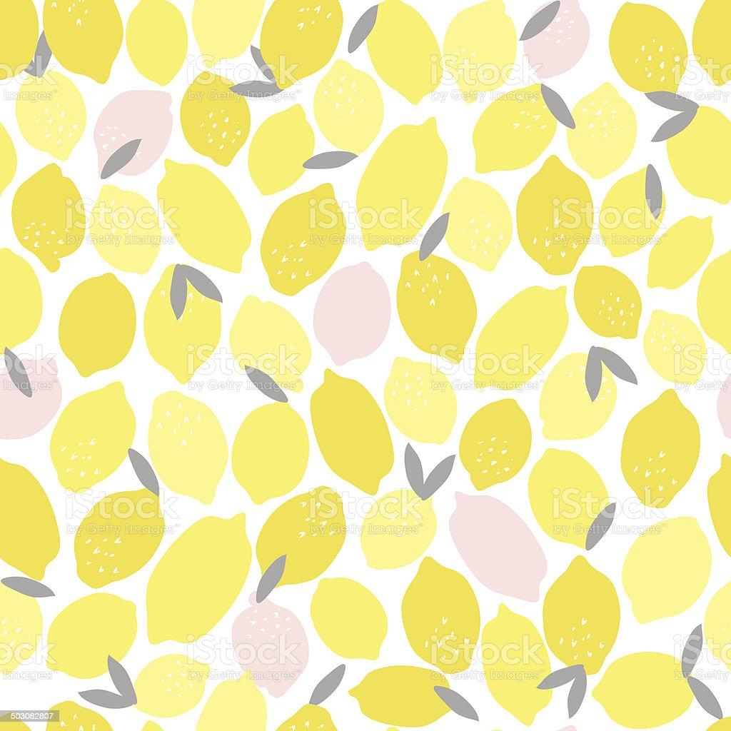 Seamless Pink Lemonade Pattern vector art illustration