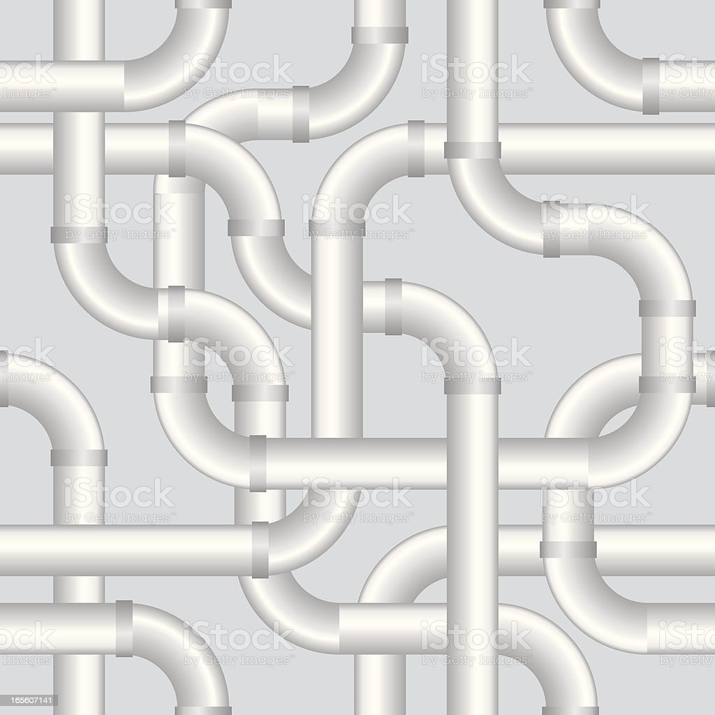 Seamless pipe wallpaper vector art illustration