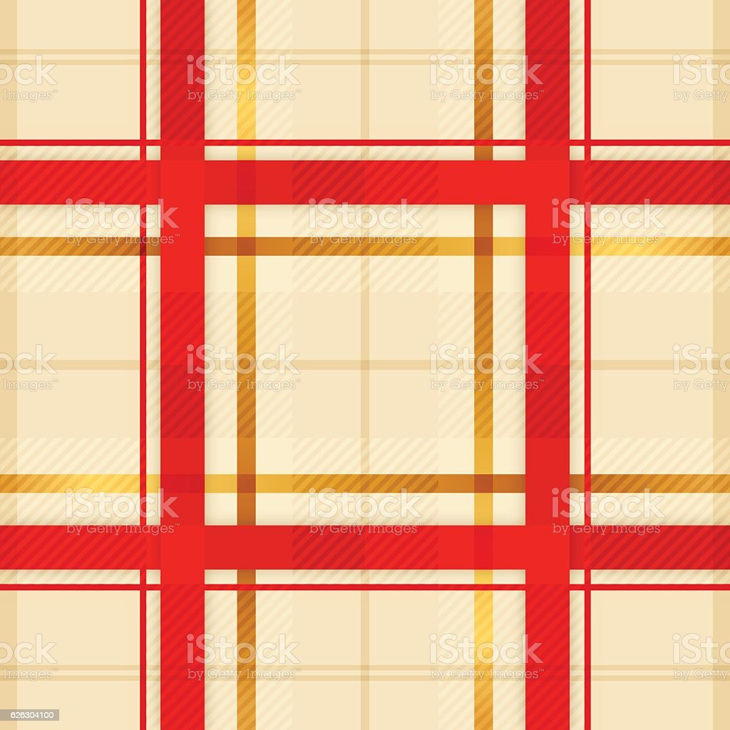 Seamless Plaid Holiday vector art illustration