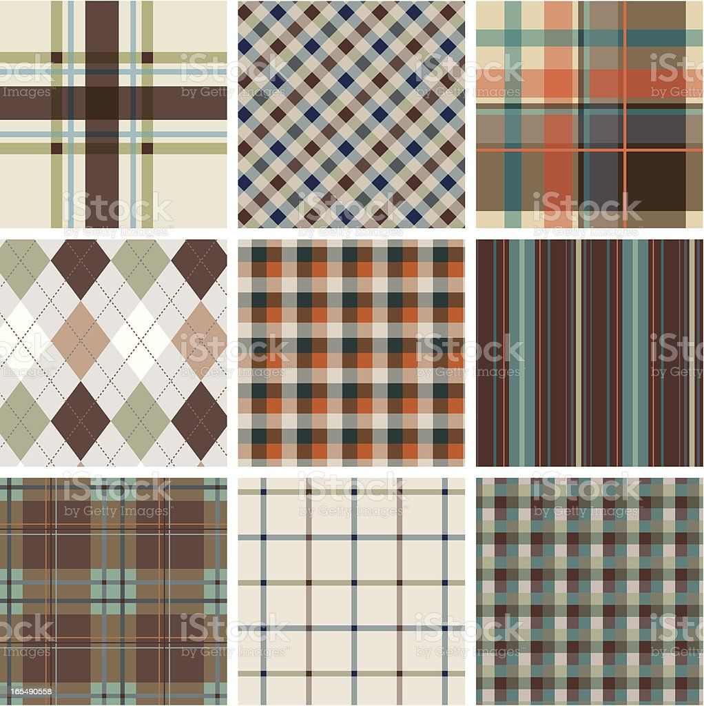Seamless plaid pattern royalty-free stock vector art