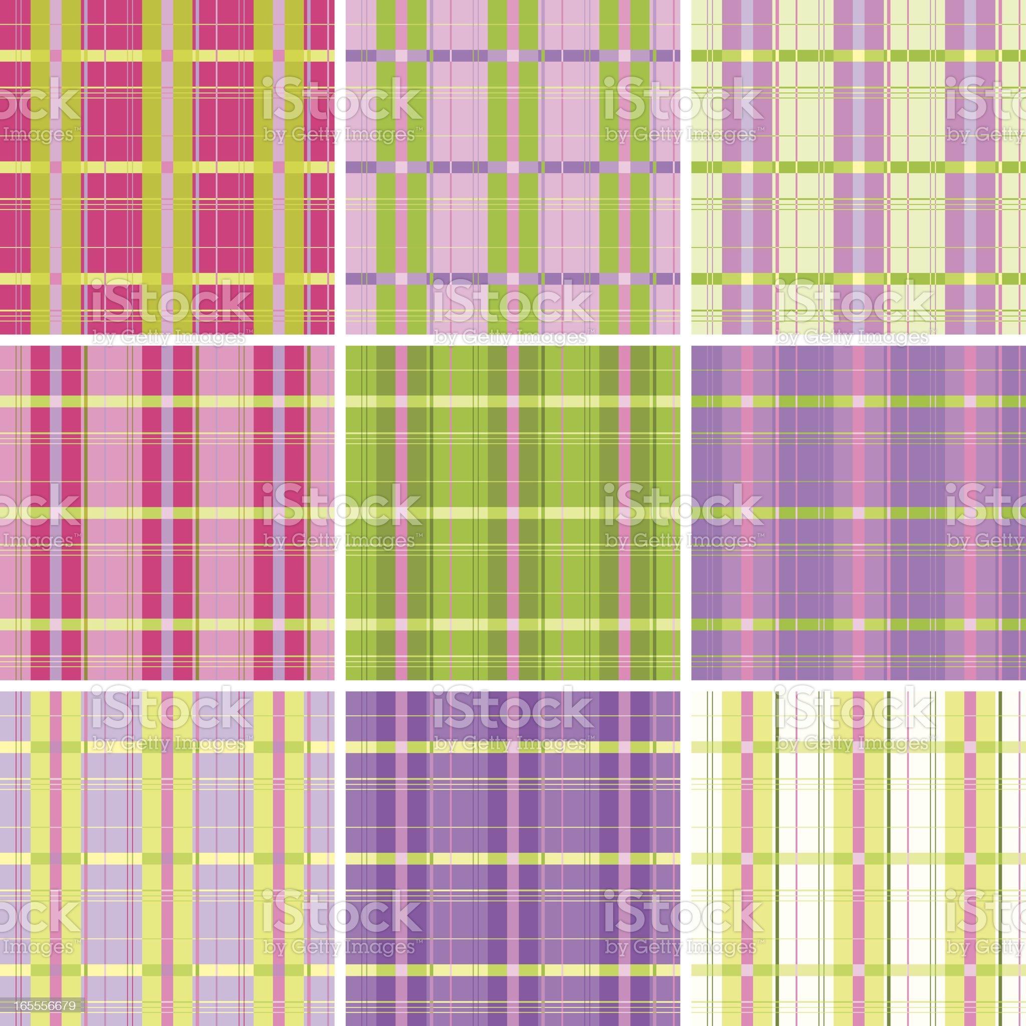 Seamless plaid pattern royalty-free stock vector art