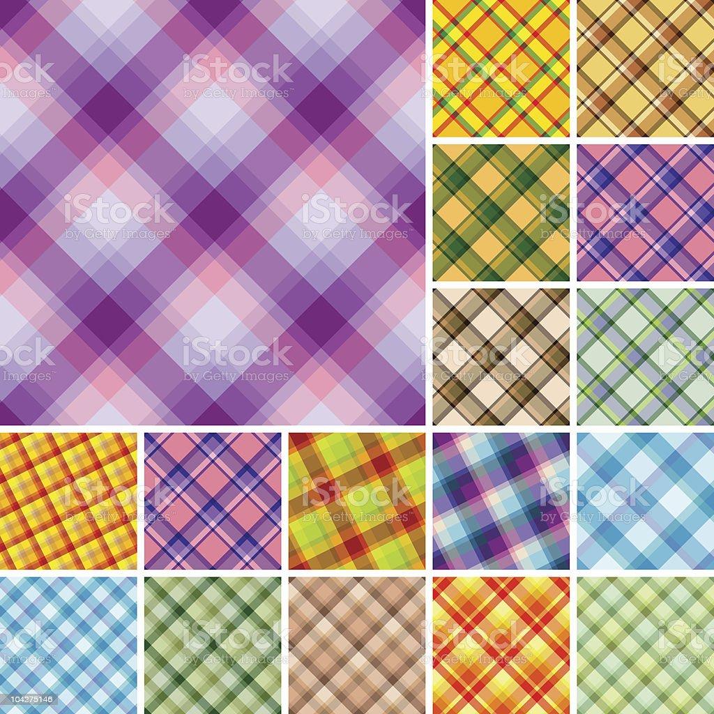 Seamless plaid patterns royalty-free stock vector art