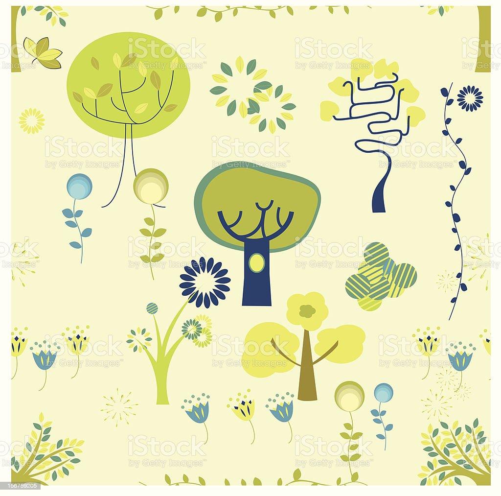 seamless plant royalty-free stock vector art