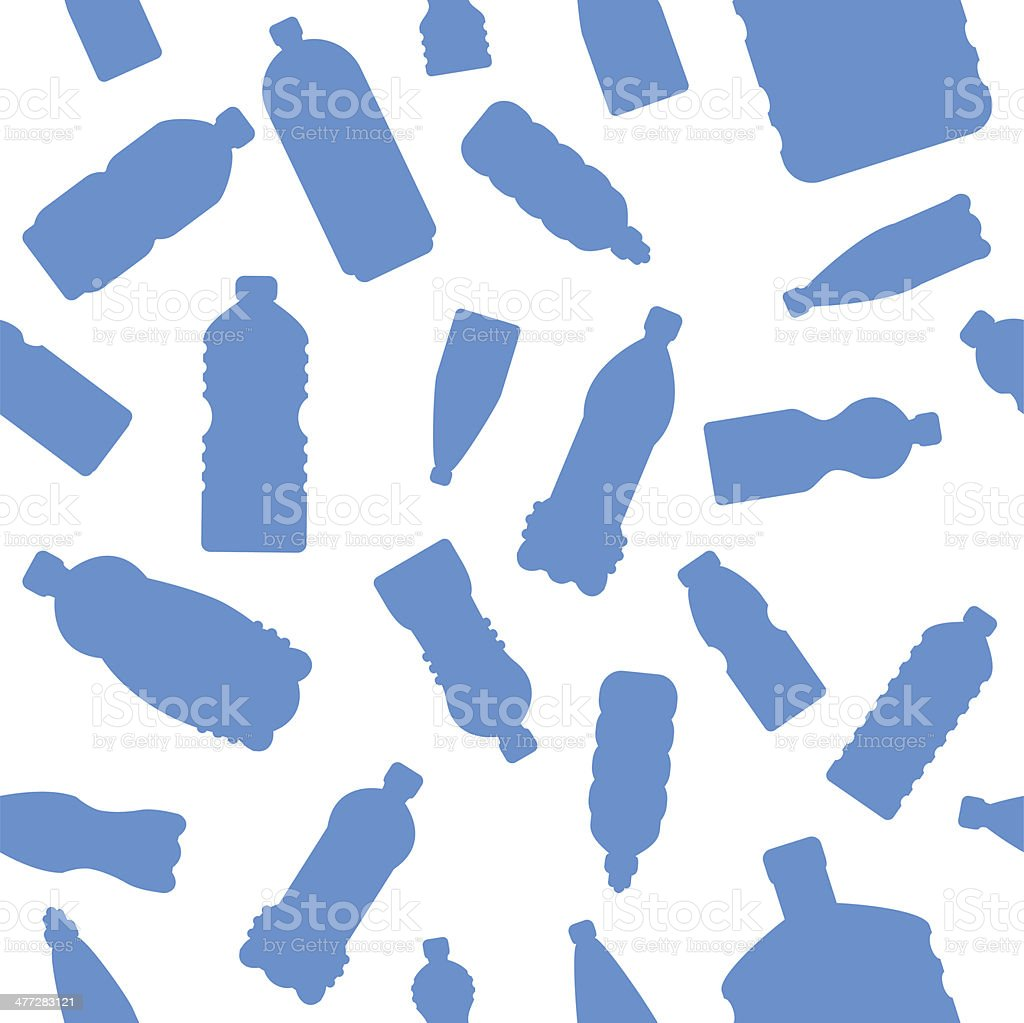 seamless plastic bottles pattern vector art illustration