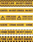 seamless police cordon tapes