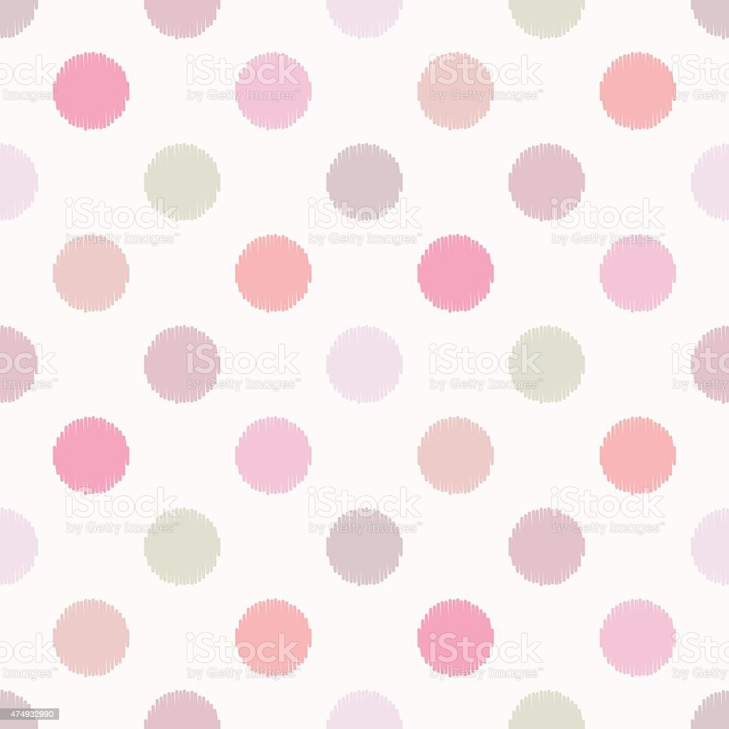 seamless polka dots pattern vector art illustration
