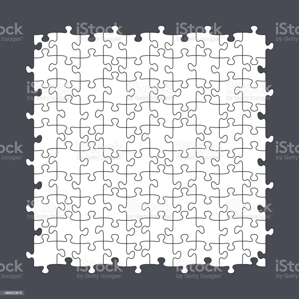Seamless Puzzle Template 10x10 royalty-free stock vector art