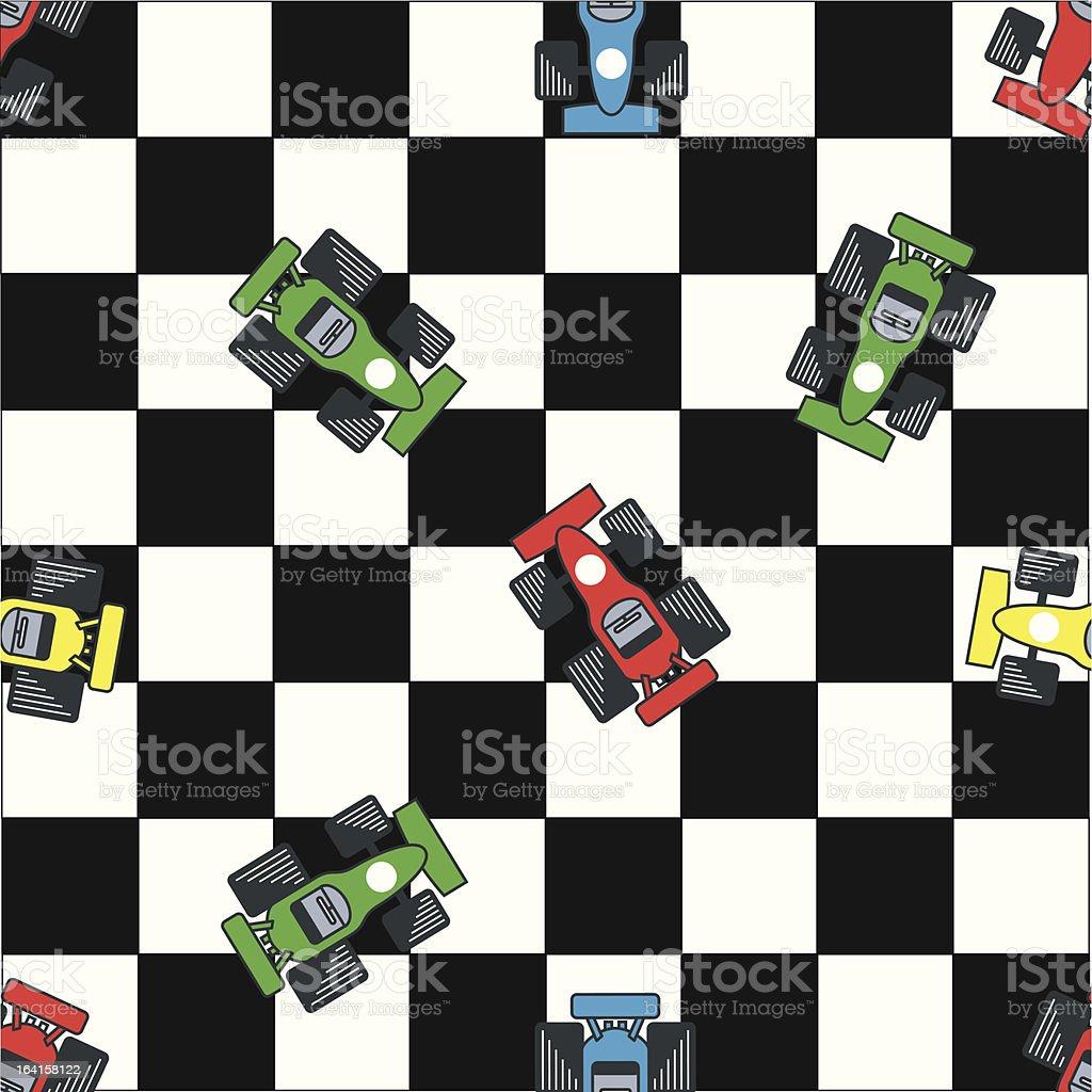 Seamless racing pattern vector art illustration