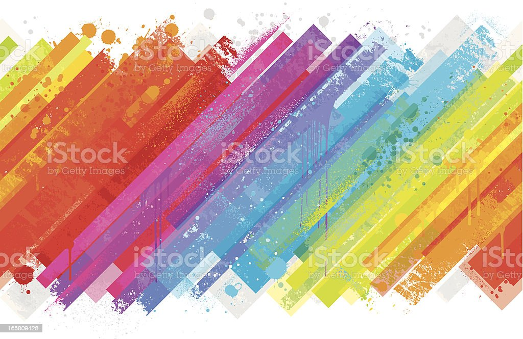 Seamless rainbow splash background vector art illustration