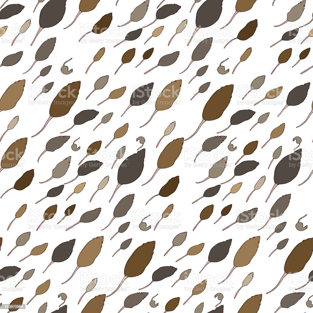 Seamless Rats Pattern royalty-free stock vector art