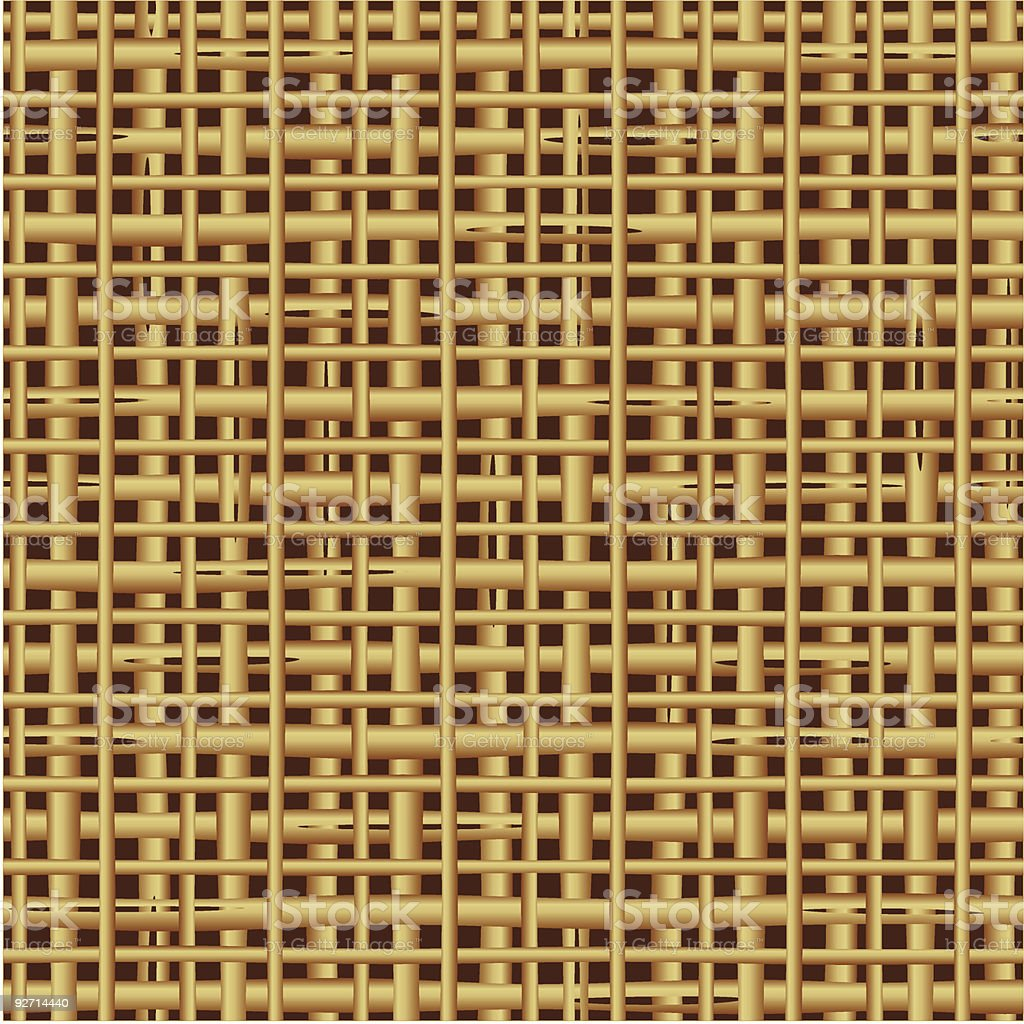 Seamless (repeatable)  rattan, reed, cane, wicker or straw mat pattern royalty-free stock vector art