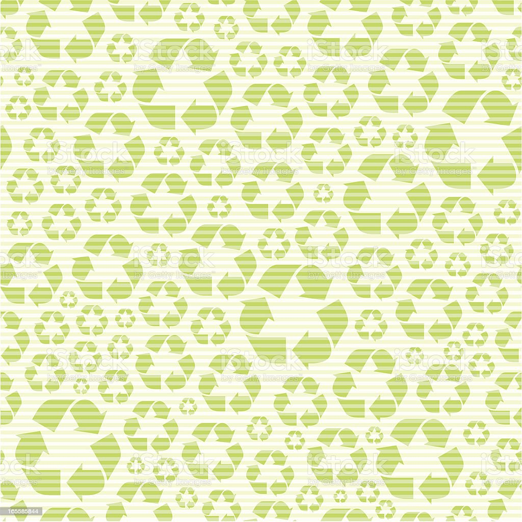 Seamless recycling symbol pattern royalty-free stock vector art