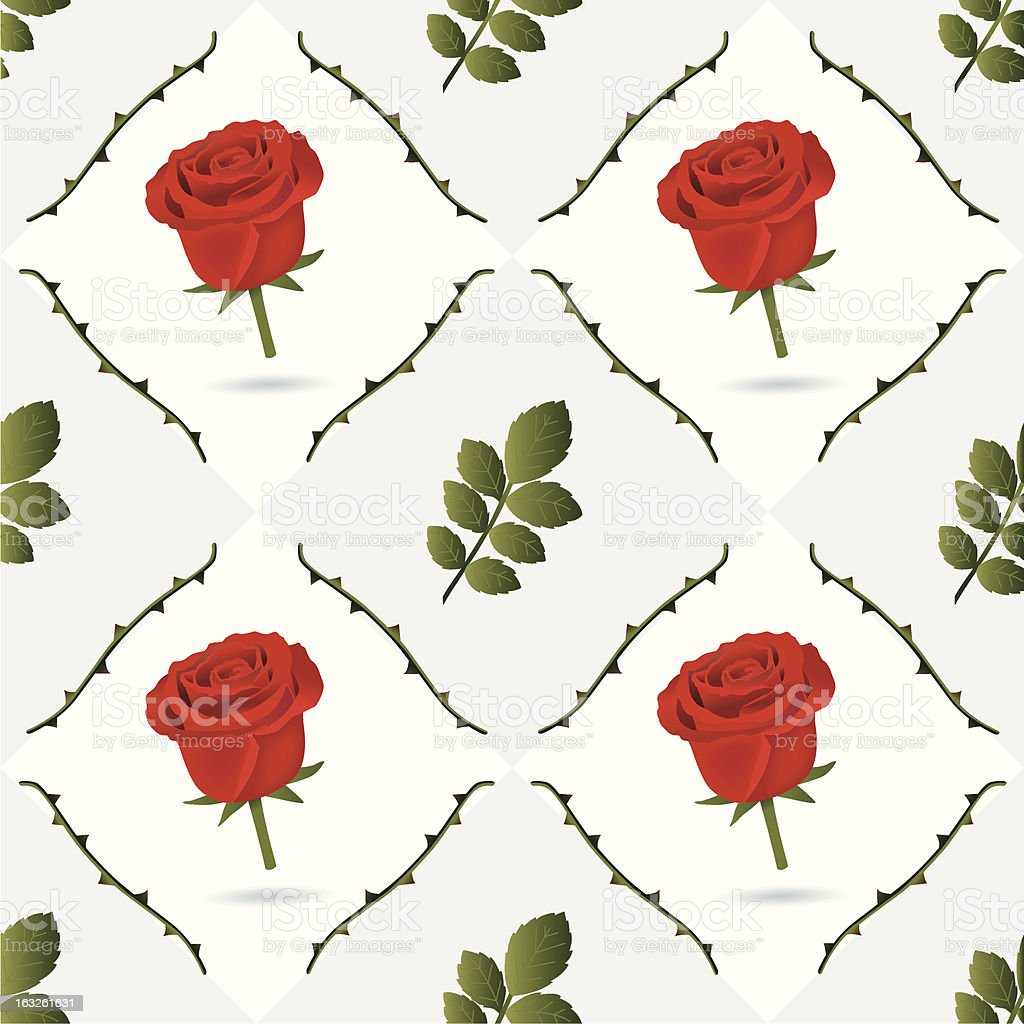 seamless red roses pattern. royalty-free stock vector art