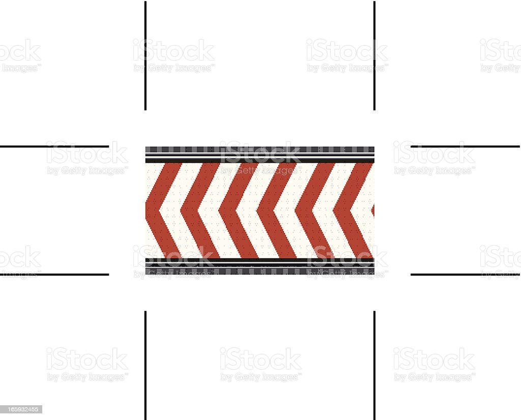 seamless red under construction banner royalty-free stock vector art