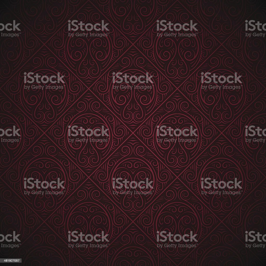 Seamless red wallpaper background royalty-free stock vector art