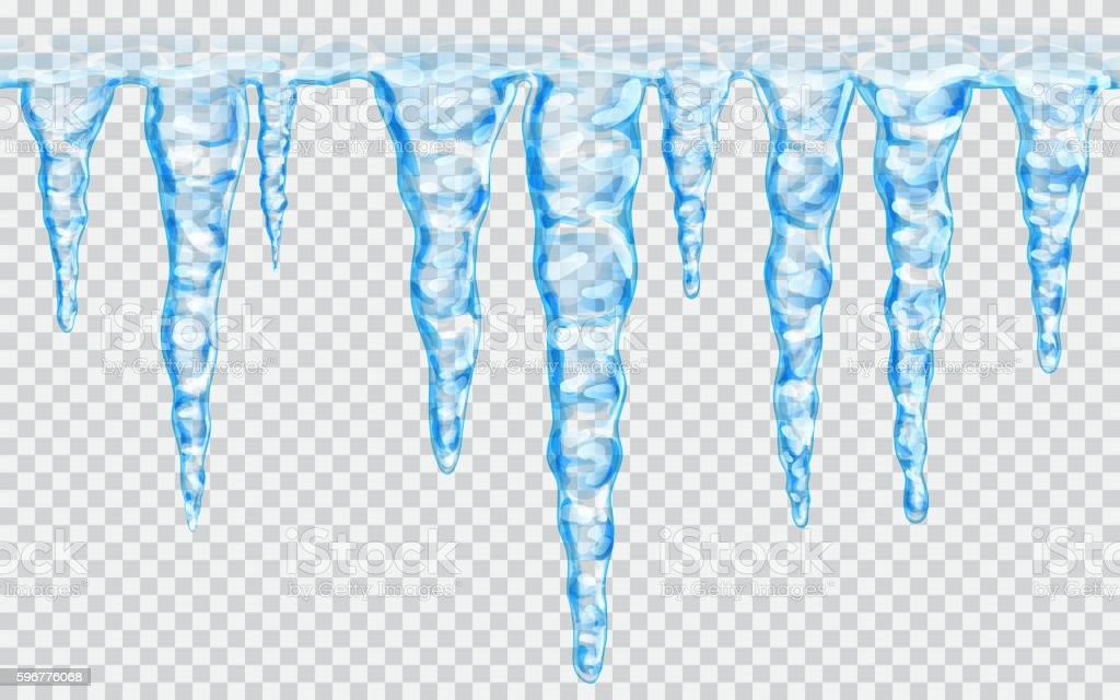 Seamless repeatable icicles vector art illustration