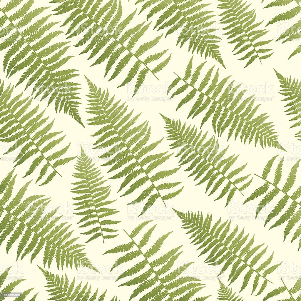 Seamless, repeating fern pattern background royalty-free stock vector art