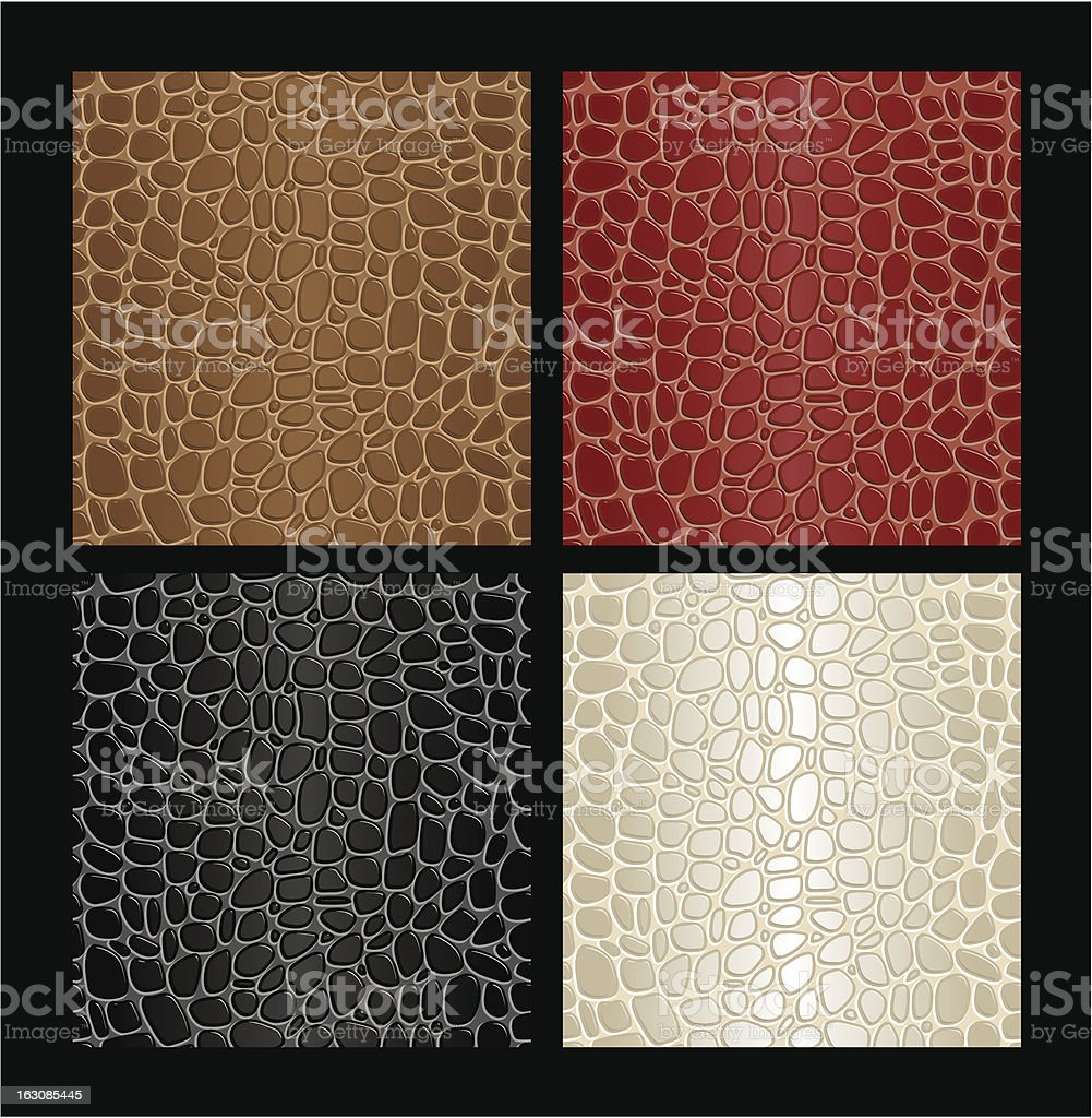 Seamless reptile skin patterns royalty-free stock vector art